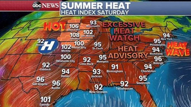 L A  Oldies - Temperatures soar as severe weather threatens major